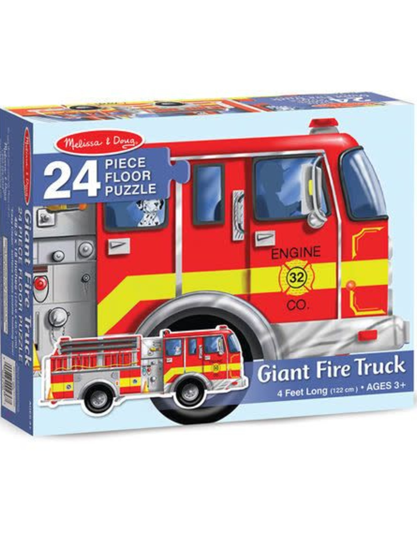 Melissa & Doug Giant Fire Truck 24pc Floor Puzzle