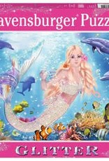 Ravensburger Glitter Mermaids & Dolphins 100pc Puzzle