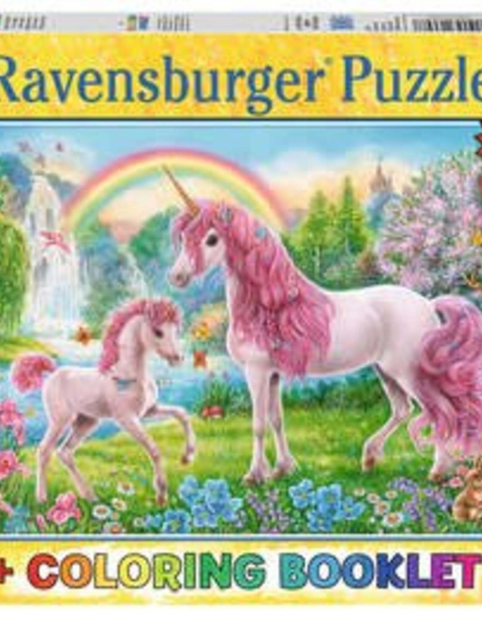 Ravensburger Magical Unicorns 100pc XXL Puzzle + Coloring Book