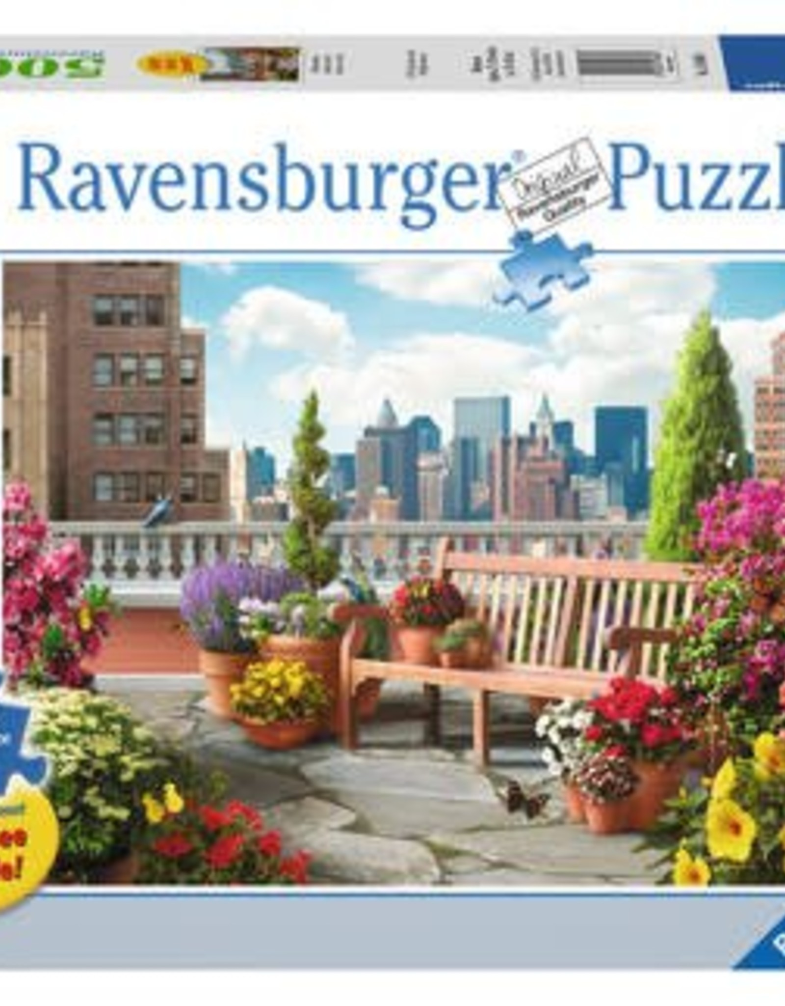 Ravensburger Rooftop Garden 500pc Puzzle Large Format