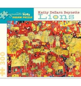 Pomegranate Puzzle Lions