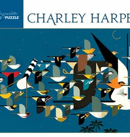 Pomegranate Puzzle - Charley Harper -Mystery of the Missing Migrants