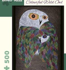 Pomegranate Casse-tête - Ningeokuluk Teevee - Colourful Wild Owl