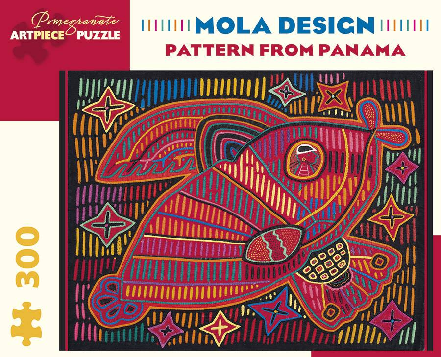 Pomegranate JK048 Mola Design - Pattern from Panama