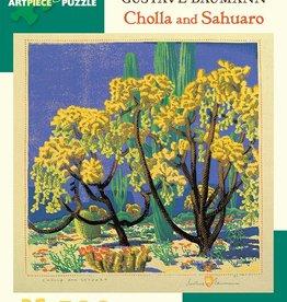 Pomegranate Puzzle - Gustave Baumann - Cholla and Sahuaro