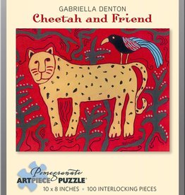 Pomegranate Puzzle Cheetah & Friend