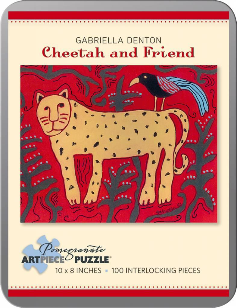 AA797 Gabriella Denton : Cheetah & friend