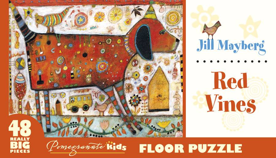 FP004 Jill Mayberg - Red vines floor puzzle