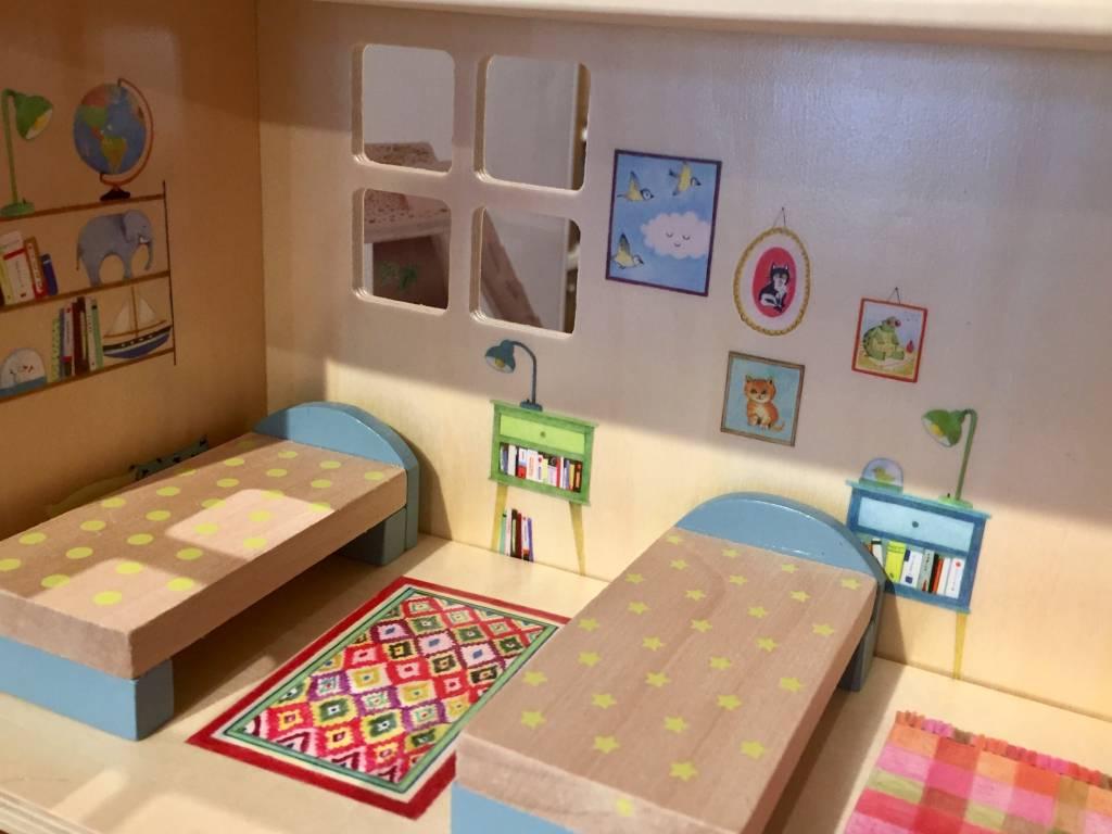 Moulin Roty Grande Famille - Maison de poupée meublée