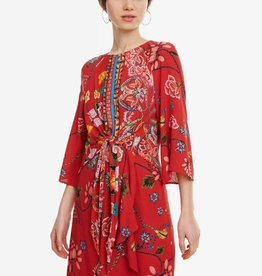 Desigual Desigual Dress Red Print Glen