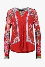 Desigual Desigual Scarf patchwork shirt