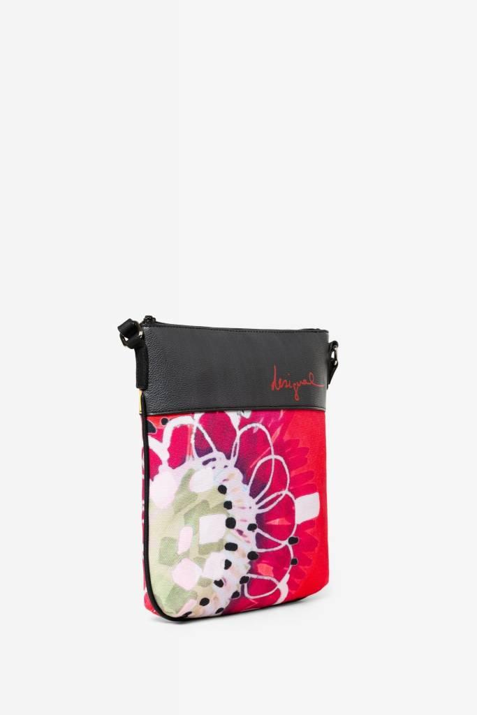 Desigual Desigual Floral Messenger Bag Poppy flower