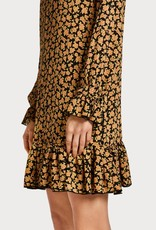 Maison Scotch Maison Scotch Printed dress with peplum