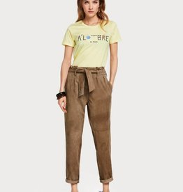 Maison Scotch Regular fit tee with various artworks 150166