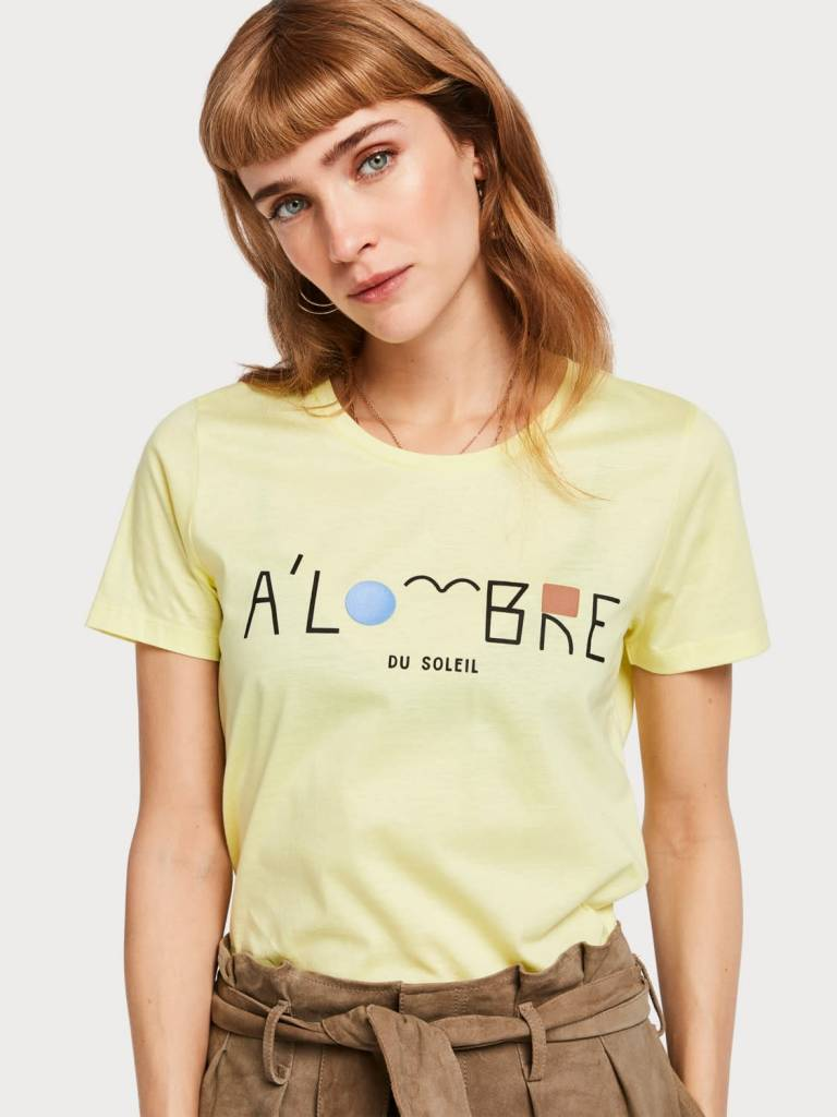 Maison Scotch Maison Scotch French Artwork T-Shirt