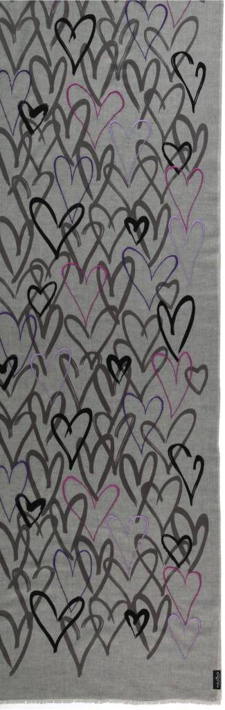 Fraas Fraas Scarf with graphic-print in pure cotton