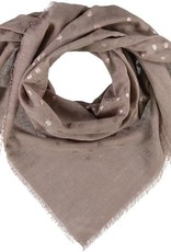 Fraas Fraas Metallic Floral Printed Oversized Cotton Square