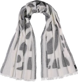 Fraas Fraas Abstract Blocks Cotton Jacquard Woven Scarf