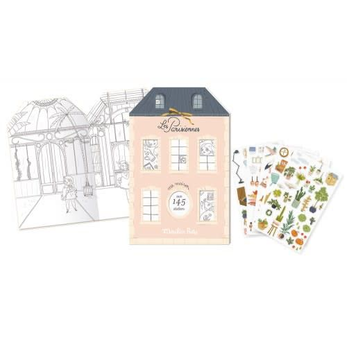 Moulin Roty Moulin Roty Les Parisiennes - Cahier stickers