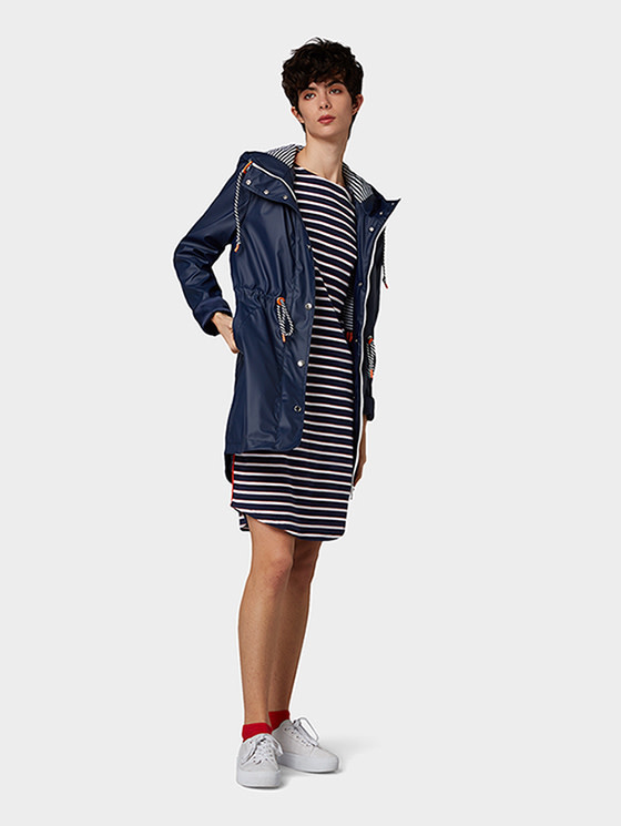 Tom Tailor Striped dress with tape detail