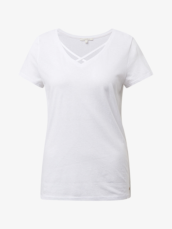 Tom Tailor V-neck tee with straps