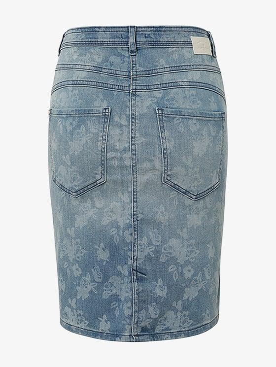 Tom Tailor Floral denim skirt