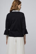Compania Fantastica Black jumper with flared sleeves