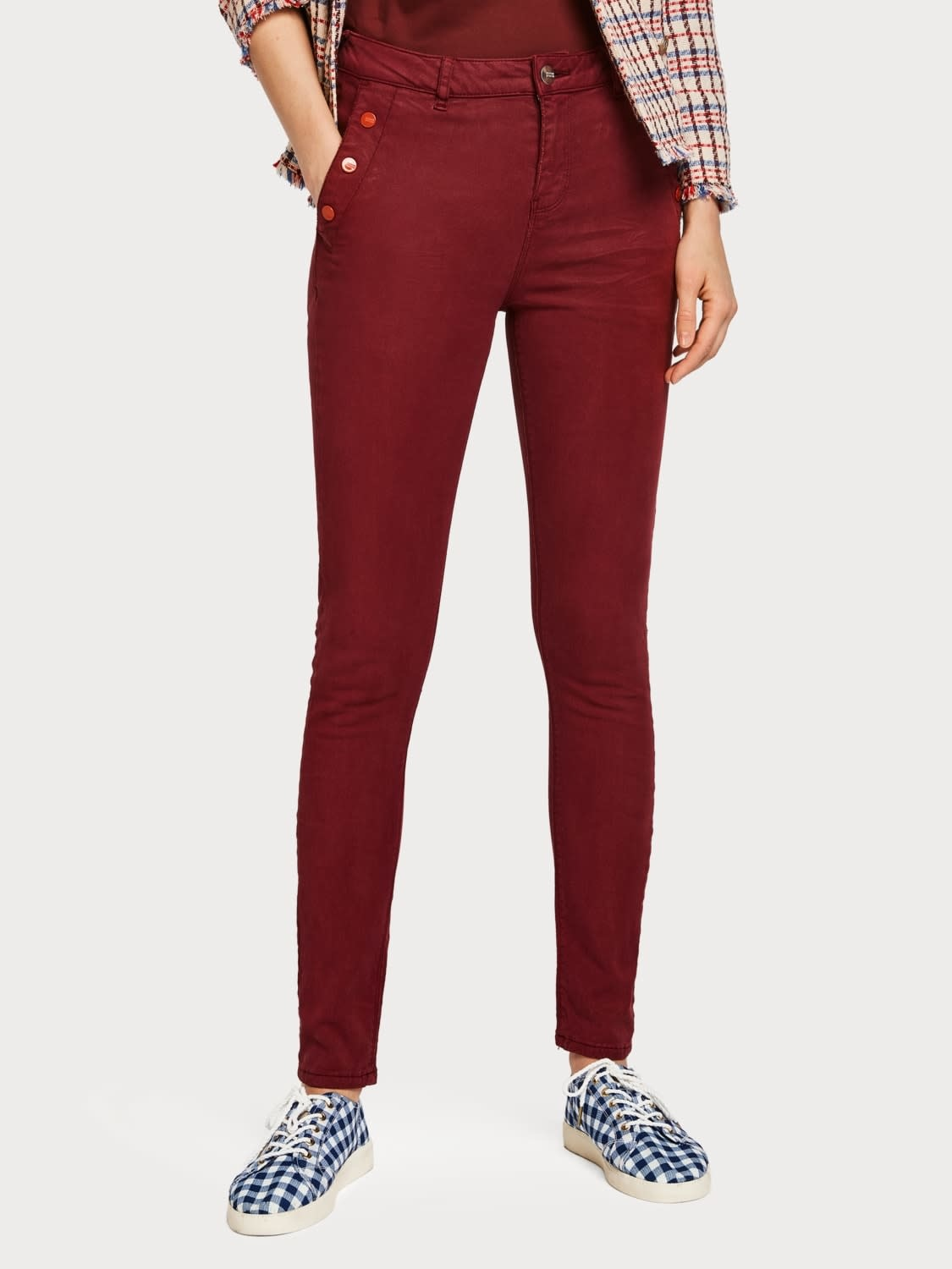 Maison Scotch Maison Scotch Trousers High rise skinny fit