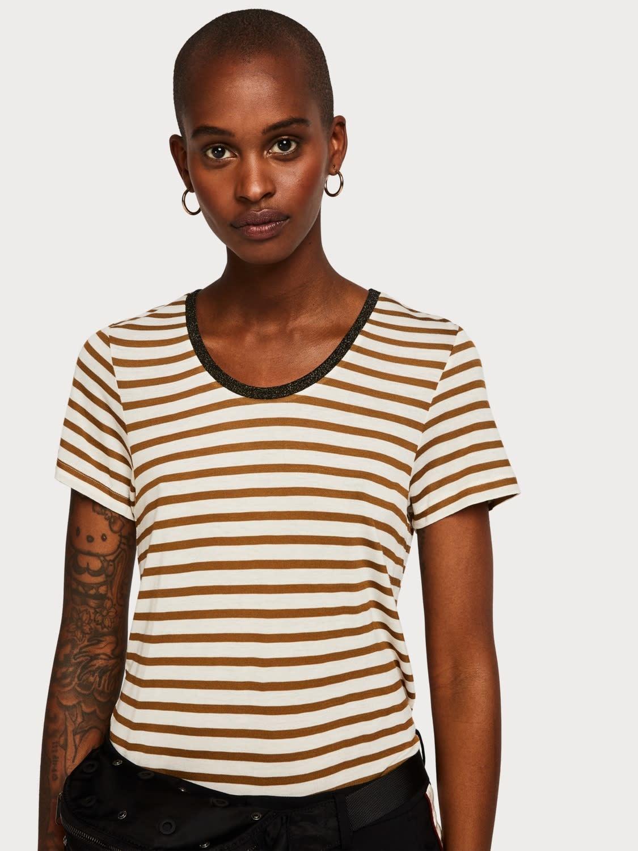 Maison Scotch Maison Scotch Basic Striped T-Shirt