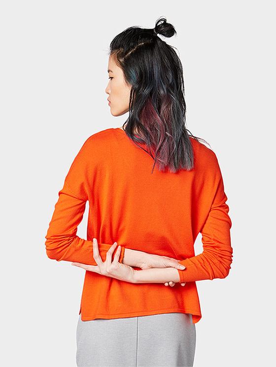 Tom Tailor Tom Tailor Orange v-neck pullover