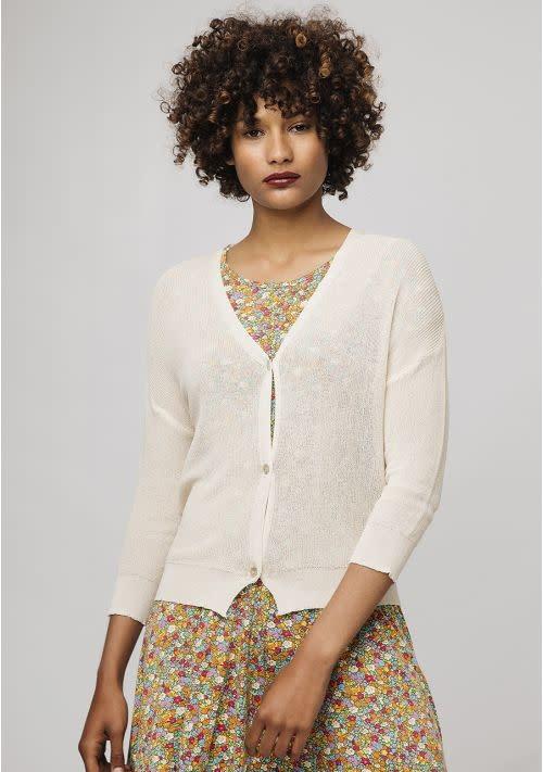Compania Fantastica Offwhite fine knit cardi