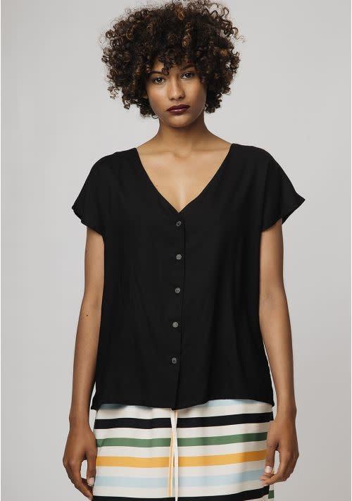 Compania Fantastica Compania Fantastica Black v-neck shirt