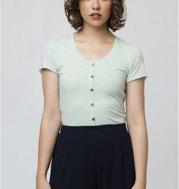 Compania Fantastica Green stripe t-shirt