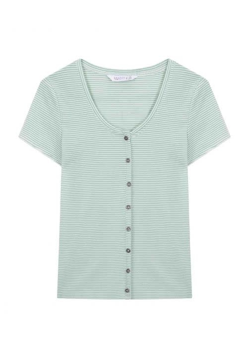 Compania Fantastica Green stripe t-shirt