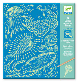 Djeco Djeco Scratching card Sea Life