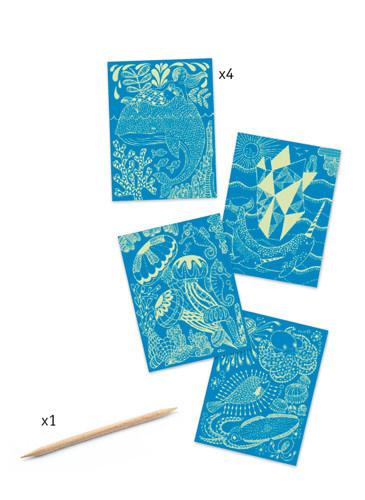 Djeco Djeco Scratching card Sea Life