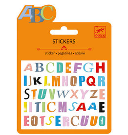 Djeco Djeco Mini stickers Colored letters
