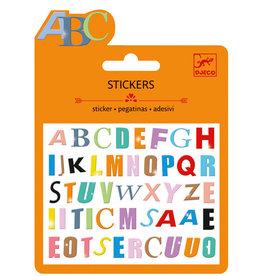 Djeco Djeco Mini stickers Lettres colorées