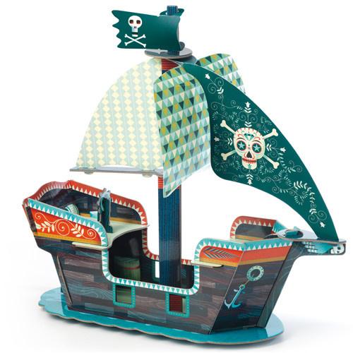 Djeco Djeco Bâteau pirate 3D