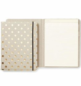 Kate Spade Kate Spade Notepad folio - Linen and gold dots