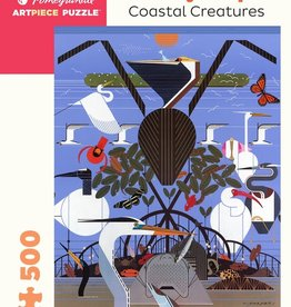 Pomegranate Puzzle - Charley Harper - Coastal Creatures