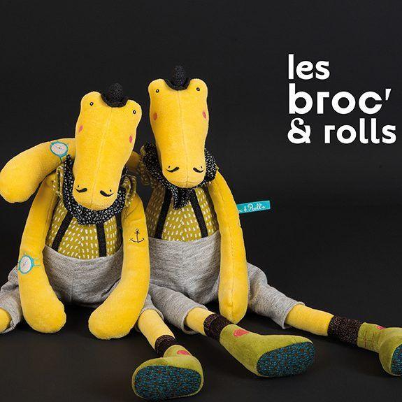 Moulin Roty Moulin Roty Les Broc'n rolls - Ernest Crocodile plush