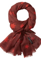 Maison Scotch Maison Scotch Star printed wool scarf