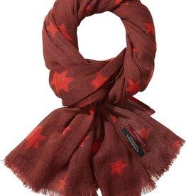 Maison Scotch Star printed wool scarf