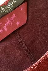 Maison Scotch Maison Scotch T-shirt avec bords-côtes et détails en lurex