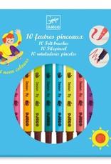 Djeco Djeco 10 feutres pinceaux / Couleurs pop