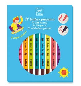 Djeco 10 felt brushes / pop colors