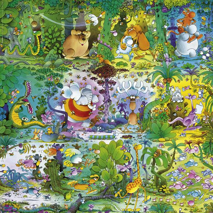 29799 Puzzle 1000 pcs - Wildlife - Mordillo