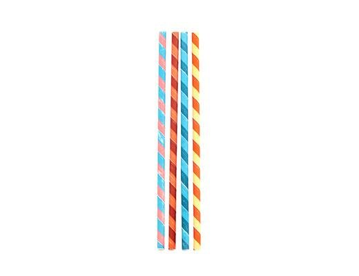 Kikkerland Kikkerland Paper straws color stripes