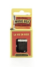 Kikkerland Kikkerland Crankhand musical box La vie en rose